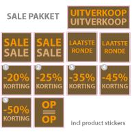 Pakket stickers PAK-01 Bruin