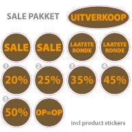 Pakket stickers PAK-03 Bruin
