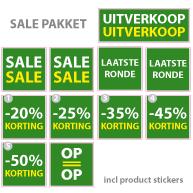 Pakket stickers PAK-01 Groen