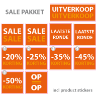 Pakket stickers PAK-01 Oranje