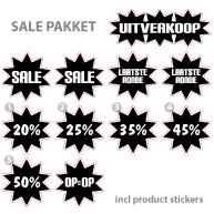 Pakket stickers PAK-02 Zwart