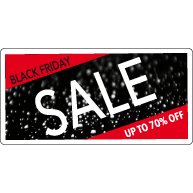 Black Friday Sale Raamsticker BF-010