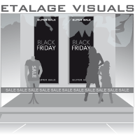 etalage black friday Super Sale BF-016