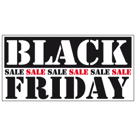 Black Friday Sale Raamsticker BF-004