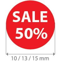 Brilsticker sale percentage rond BR-0003