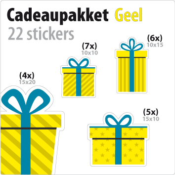 cadeausticker pakket STP-01 geel