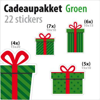 cadeausticker pakket STP-01 groen