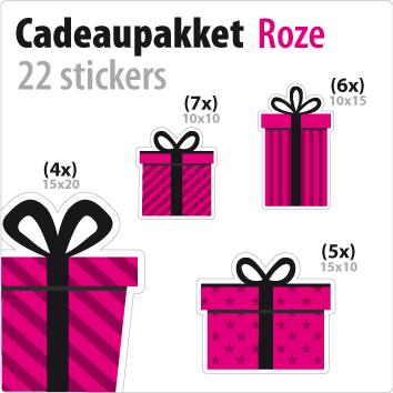 cadeausticker pakket STP-01 roze