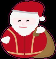 Raamsticker kerstman VA-0048