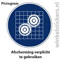 Pictogram 5 stuks 'afscherming' PICTO-155