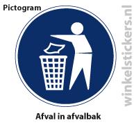 Pictogram 5 stuks 'afval' PICTO-186