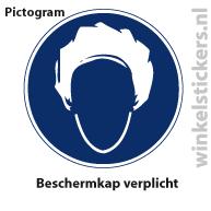 Pictogram 5 stuks 'beschermkap' PICTO-176