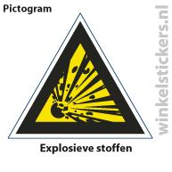 Pictogram 5 stuks 'explosieve' PICTO-125