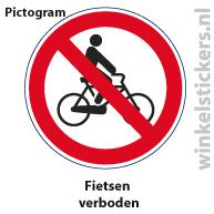 Pictogram 5 stuks 'fietsen' PICTO-013