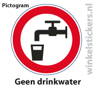Pictogram 5 stuks 'drinkwater' PICTO-006