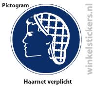 Pictogram 5 stuks 'haarnet' PICTO-166