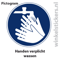 Pictogram 5 stuks 'handen' PICTO-177