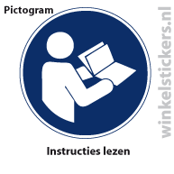 Pictogram 5 stuks 'instructies' PICTO-180