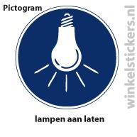 Pictogram 5 stuks 'lampen' PICTO-181