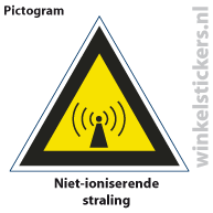 Pictogram 5 stuks 'straling' PICTO-104