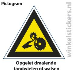 Pictogram 5 stuks 'opgelet' PICTO-128