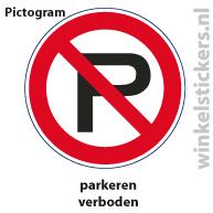 Pictogram 5 stuks 'parkeren' PICTO-012