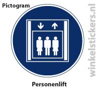 Pictogram 5 stuks 'personenlift' PICTO-158