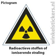 Pictogram 5 stuks 'radioactieve' PICTO-109