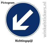 Pictogram 5 stuks 'richtingspijl' PICTO-161