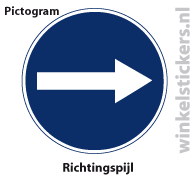 Pictogram 5 stuks 'richtingspijl' PICTO-174