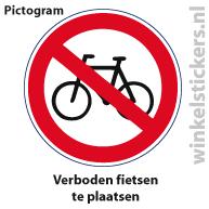 Pictogram 5 stuks 'fietsen' PICTO-024