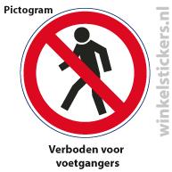 Pictogram 5 stuks 'voetgangers' PICTO-004