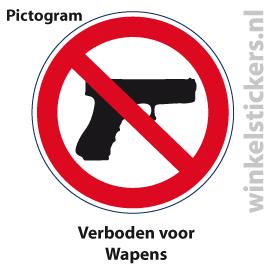 Pictogram 5 stuks 'wapens' PICTO-152