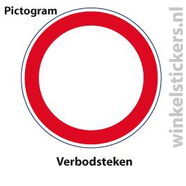 Pictogram 5 stuks 'verbod' PICTO-154