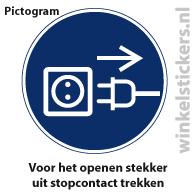 Pictogram 5 stuks 'stekker' PICTO-167