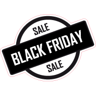 Raamsticker Black Friday rond VA-0103