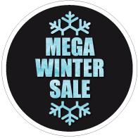 Raamsticker mega winter sale CI=0057