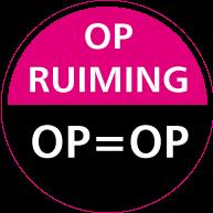 Raamsticker opruiming op=op CI-0027