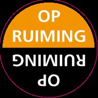 Raamsticker opruiming CI-0026
