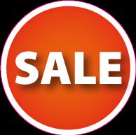 Raamsticker sale CI-0017