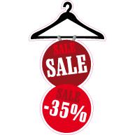 Raamsticker sale korting VA-0045