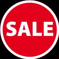 Raamsticker sale CI-0046