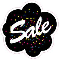 Raamsticker sale VA-0036