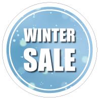 Raamsticker winter sale CI-0055