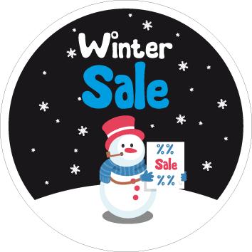 Raamsticker winter sale CI-0054