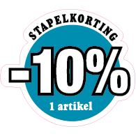 Etalagesticker stapelkorting winter blauw 1 artikel STA-107