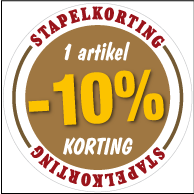 Etalagesticker stapelkorting herfst bruin 1 artikel STA-36