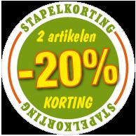 Etalagesticker stapelkorting lente groen 2 artikel STA-66