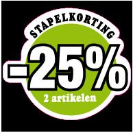 Etalagesticker stapelkorting lente groen 2 artikel STA-70