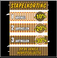 Poster stapelkorting herfst bruin STA-26